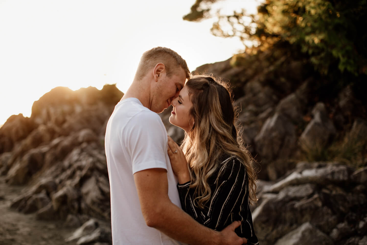 tofino sunset engagement photos