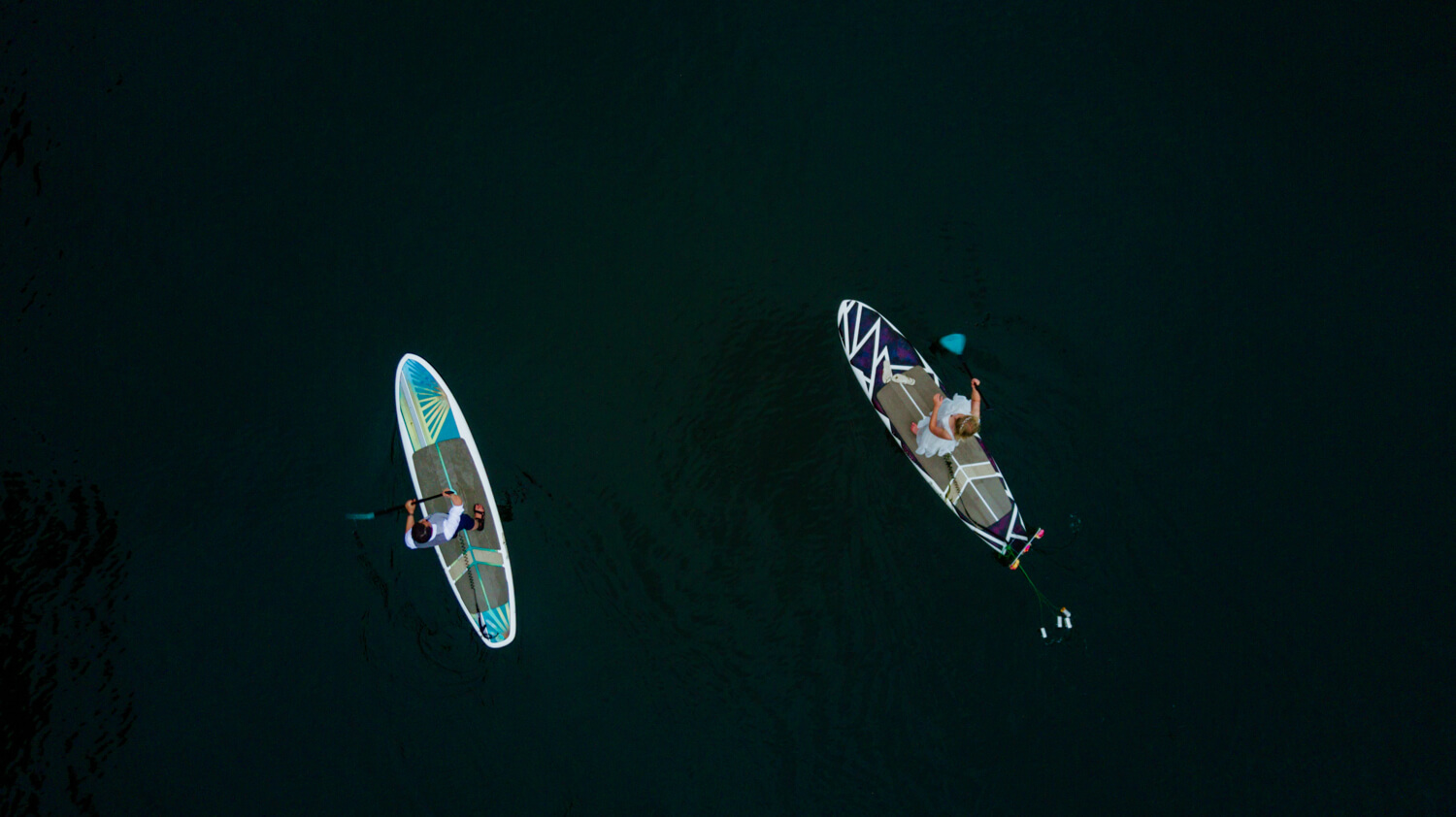 wedding day paddle board processional